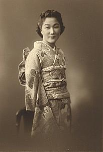 Lady Traditional Fashion Japan old Ichijo Photo 1920