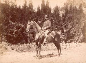 Algeria French Colonial horse rider old Photo 1880'