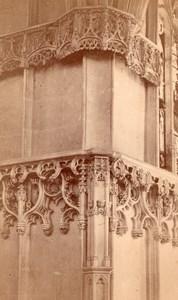 Amboise Castle Detall France old Mieusement Cabinet Card Photo 1880'