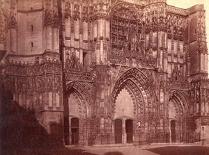 Unidentified Gothic Cathedral France old Photo 1880'