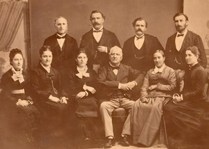 Lille Fava Family portrait Group France old Photo 1880'