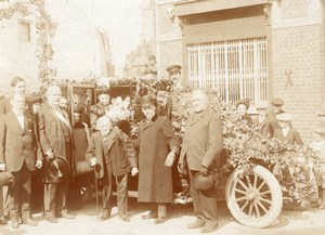 Lille Old Man Centenaire Birthday Car France Photo 1900