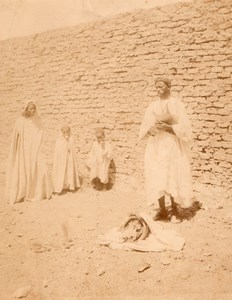 Tunisia Snake Charmer Tunis old Photo 1880'