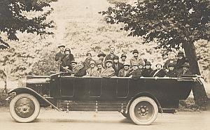 Lourdes Convertible Bus Tourist Group France Photo 1920