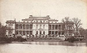 Germany Frankfurt am Main Lake Old Cabinet Card Photo CC 1890