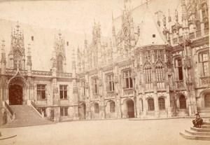 France Blois Castle Interior Court Old Cabinet Card Photo CC 1890