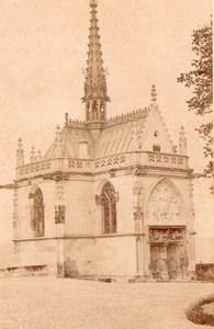 France Amboise Castle Chapel Old Cabinet Card Photo CC 1890