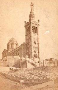 France Marseille Notre Dame de la Garde Old Cabinet Card Photo CC 1881