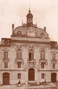 France Montdidier City Hall Old Cabinet Card Photo CC 1890