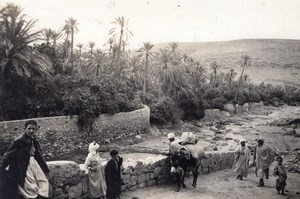 Algeria Bou Saada Oasis Life old Photo Prouho 1930