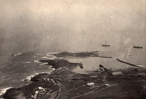 Fedhala Harbour Panorama Morocco old Aerial Photo 1920
