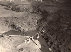 Moulouya Bridge Guercif Morocco old Aerial Photo 1920