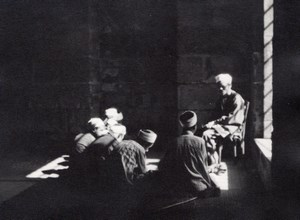 Morocco Mosque Men Listening Prayer old Photo 1930