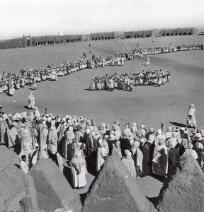 Adrar Annual Tribes Meeting Algeria old Photo 1940