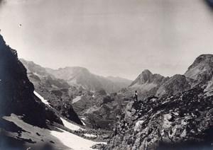 France or Switzerland Alpes Panorama Old Photo 1900