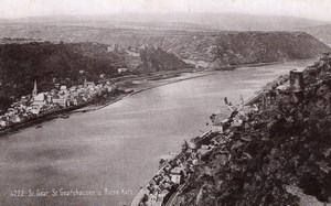 St Goar Goarhausen Germany Rheinlande Old Cabinet Card Photo CC 1897