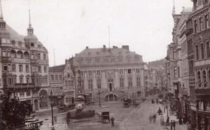 Bonn Marktplatz Germany Rheinlande Market Cabinet Card Photo CC 1897