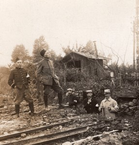 Railway Trench French Front WWI Stereo Photo 1918
