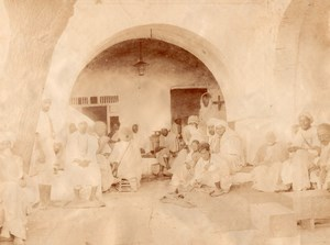 Tunis Coffee Shop Tunisia old Garrigues Photo 1880