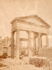 Roman Ruins Temple Tunisia old Garrigues Photo 1880