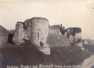 Ruines des Remparts Tournai Belgium Old Photo 1900
