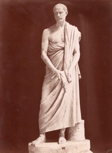Statue Demostene Vatican Roma old Fedo Photo 1880