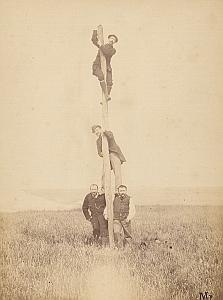 Four Buddy Friends Le Trport Instantaneous Photo 1883
