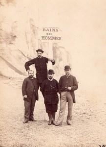 Four Buddy Friends Le Tréport Instantaneous Photo 1883