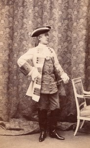 Man Full Dress Antique Fashion Belgium old Photo 1890