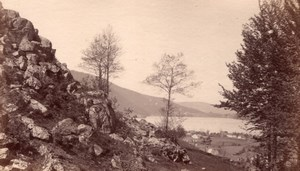 Roche du Reuss Switzerland Reuss Valley old Photo 1875