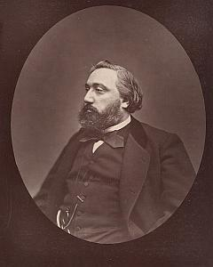 Politician Leon Gambetta France Old Carjat Photo 1875