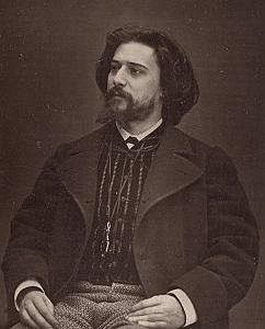 Writer Alphonse Daudet France Old Photo Carjat 1875