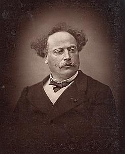 Writer Alexandre Dumas France Old Fontaine Photo 1875
