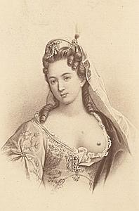 Duchesse du Maine French Historic CDV old Photo 1870