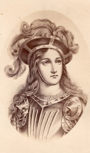 Jeanne d'Arc History France Old Teruel CDV Photo 1865