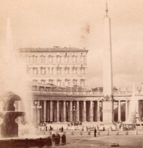Vatican Palace Pope Roma Italy old Stereo Photo 1895