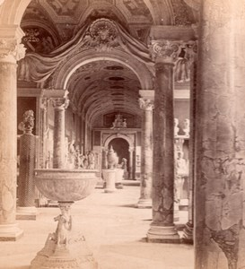 Vatican Museum Art Roma Italy old Stereo Photo 1895