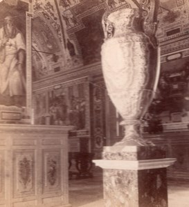 Alabaster Vase Vatican Roma Italy old Stereo Photo 1895