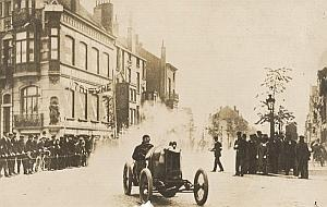 Pilot Race Car Christiaens Eu Treport old Photo 1910