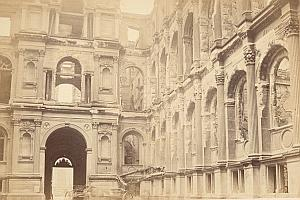Civil War City Hall Commune de Paris old CC Photo 1871