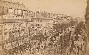 Boulevard des Italiens Paris France old CC Photo 1875