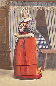 Roskilde Traditional Fashion hand colored Photo 1870