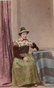 Oberbayern Traditional Fashion hand colored Photo 1870