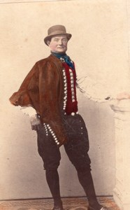 Vierlander Traditional Fashion hand colored Photo 1870
