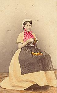 Dienstmaedchen Traditional Fashion hand colored Photo