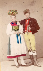 Germany Traditional Fashion hand colored Photo 1870