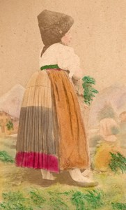 Austrian Traditional Fashion hand colored Photo 1870