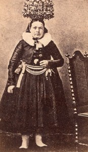 Schwarzwalder Braut Traditional Fashion old Photo 1870