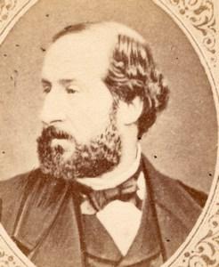 Writer Poet Emile Augier France old CDV Figaro 1875