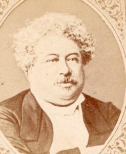 Writer Alexandre Dumas Pere France old CDV Figaro 1875